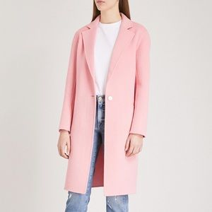 Sandro Paris Dilan Single Button Coat In Rose NWT